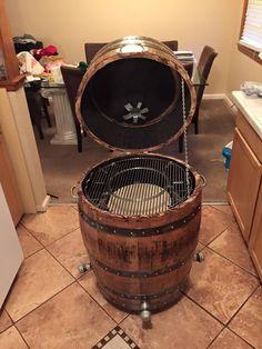 whiskey barrel smoker