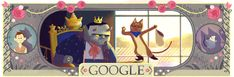 google charles perault | Google marks Charles Perrault's 388 birthday with doodle on his three ...