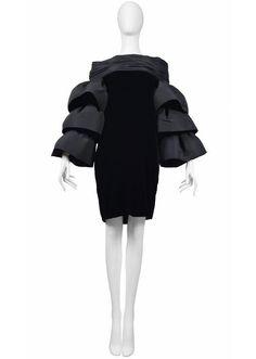 Pierre Cardin Couture Ruffle Sleeve Dress 2