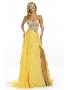 yellow prom dress