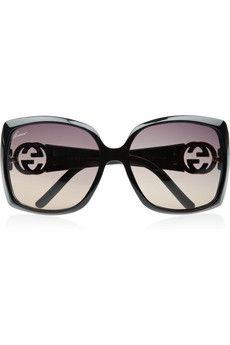gucci square frame acetate sunglasses $295
