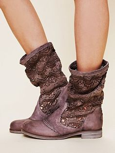 Free People Crochet Slouch Boot  From freepeople.com