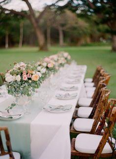 Tropical Maui Wedding from Gina Meola Photography. - wedding centerpiece
