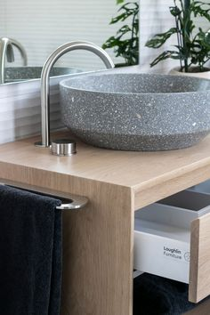 Loughlin Furniture Baxter Timber Vanity in American Oak. Collaboration with The Designory at Byron Bay. Bathroom Sinks, Bathroom Ideas, Timber Vanity, Luxury Holidays, Byron Bay, Beautiful Bathrooms, Barefoot, Collaboration, Villa