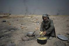 old man cooking