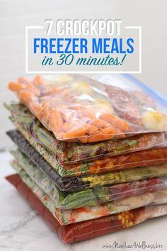 7 Crockpot Freezer Meals in 30 MInutes