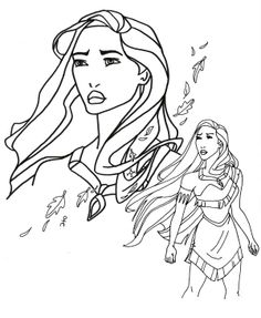 Pocahontas Forest Girl Coloring Pages