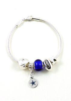 Dallas Cowboys Charm and Bead Womens Bracelet | Dallas Cowboys Womens Bracelet http://www.rallyhouse.com/shop/dallas-cowboys-9120142 $23.99