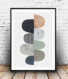 Abstract art, Scandinavian print, Minimalist art, Geometric print, Watercolor abstract, Nordic design, Wall decor, simple art, muted colors