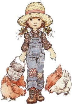 Sarah Kay - Illustration - Reminds me my childhood. Sarah Key, Holly Hobbie, Vintage Pictures, Cute Pictures, Illustrations, Vintage Cards, Cute Art, Childhood Memories, Little Girls
