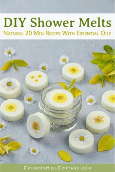 DIY DIY Wake Up Shower Melts - Aromatherapy Shower Bombs Recipe for Energy with Essential Oils Homemade Bath Bombs, Homemade Soap Recipes, Homemade Gifts, Natural Beauty Recipes, Diy Beauty Tips, Bombe Recipe, Shower Bombs, Bath Bomb Recipes, Shower Steamers