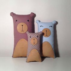 Bear pillows.  I want to make these for seatbelt pillows.