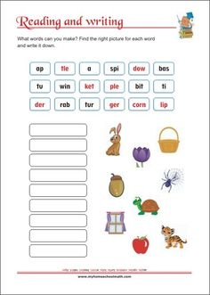Reading and Writing Skills - Printable Worksheets Letter Worksheets, Kindergarten Worksheets, Printable Worksheets, Learning Numbers, Learning Letters, Pre Writing, Writing Skills, Write It Down, Learning Colors