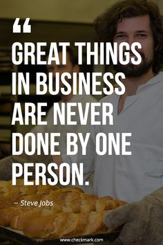 Great Things in Business Are Never Done By One Person - Steve Jobs Motivational Videos For Success, Success Quotes, Motivational Quotes, Inspirational Quotes, Daily Inspiration Quotes, Business Inspiration, Motivation Inspiration, Work Motivation, Business Motivation