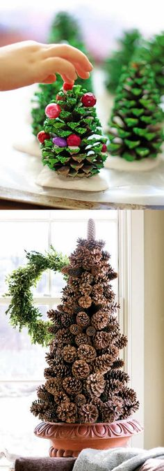 48 inspiring alternative DIY Christmas Tree ideas using repursposed materials from candy canes, pine cones, to paper and pallets, with great tutorials!