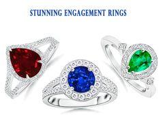 Gemstone Enagagement Rings