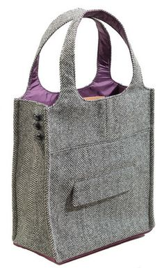 Totes made from a recycled suits