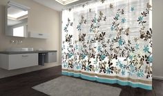 Bathroom decorating ideas - Birds & leaves themed bathroom shower curtain. Visit us for more information and where to buy!