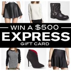 Express Giveaway | $500 Gift Card | Living In Color Print blog | Ends 10/10/2013