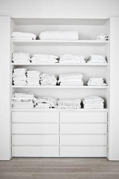 white linen closet | photo karel balas - milk
