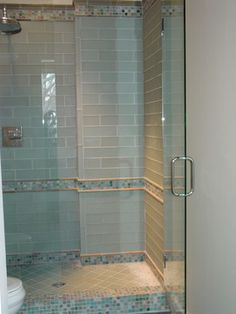glass tile showers - Google Search