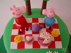 Resultado de imagen de tartas peppa pig fondant