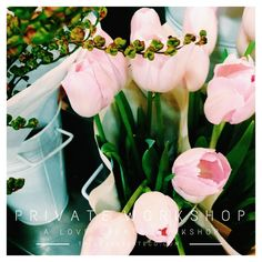 Private Workshop | The Love Create Co. Pink Tulips, Tulips Flowers, Buxus, Powder Pink, Workshop, Bloom, Table Decorations, Create, Plants