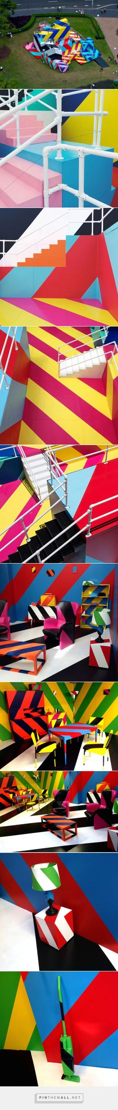 Colorful Labyrinth for the Sydney Festival – Fubiz™ - created via http://pinthemall.net
