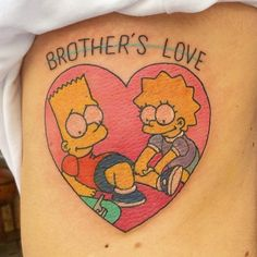 Brother's love by Meri. Trece Tattoo Málaga (Spain)