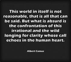 This world in itself is not reasonable...― Albert Camus