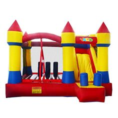 Yard Inflatable Bounce House Bouncer Combo Slide without Blower