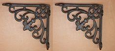 Decorative Shelf Brackets, Cast Iron Shelf Brackets, New Orleans Decor, Hardware, Candle Sconces, Restoration, Wall Lights, Shelves, Antiques