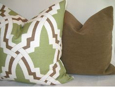 Both Sides Solid Mocha Brown Velvetty Pillow Cover 20x20 or 22x22. $32.00, via Etsy.