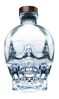 Duty-free in St. Maarten. Crystal Head Vodka by Dan Aykroyd.