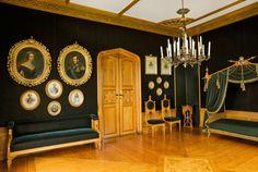 Oscarshall. Oscar I:s majestätiskt vackra rum.