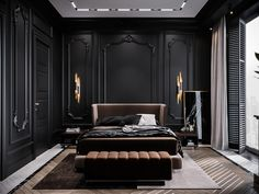 Luxury Bedroom Design, Home Room Design, Dream Home Design, Luxury Interior, Interior Architecture, House Design, American Interior, Mansion Bedroom, Dark Home Decor