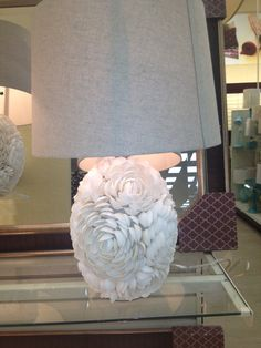 Sea shell lamps @ Home Sense for under $70. So unique wish they were bigger. Too small for my bedroom large side tables.