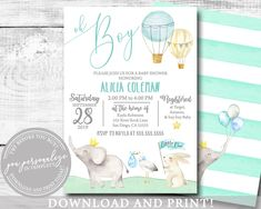 ideas baby shower elephant boy balloons for 2019 Baby Shower Invitations For Boys, Baby Shower Favors, Baby Shower Parties, Its A Boy Balloons, Baby Shower Balloons, Baby Shower Winter, Baby Boy Shower, Boy Printable, Printable Templates