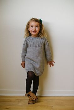 Ravelry: Åsne's Dress pattern by Paula Leme Knitting Patterns Free, Free Knitting, Baby Knitting, Free Pattern, Clothing Patterns, Dress Patterns, Knitting For Kids, Tube Dress, Knit Dress