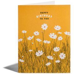Snow & Graham Cosmos birthday card.