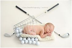 New baby boy photo shoot ideas newborn golf ideas Baby Boy Photos, Newborn Pictures, Baby Pictures, Newborn Pics, Newborn Session, Golf Baby, Newborn Baby Photography, Golf Photography, Photography Ideas