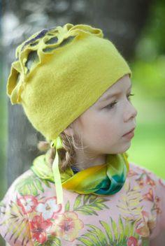 Купить Шапочка фантазийная 16009 - солнце, лиловый, лимонный, фантазия, яркий, лимон, шапочка, счастье Funky Hats, Felt Hat, Winter Hats, Art Deco, Sewing, Stylish, Fashion Art, Babys, Felt