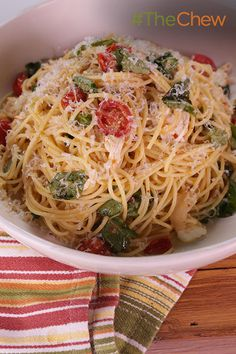 This Spaghetti with Fresh Tomatoes, Mozzarella and Basil dish is a simple yet delicious meal that the whole family will love!