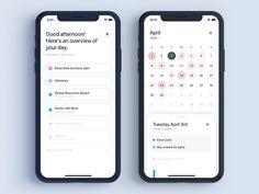 Dawn Calendar by Eric Lee on Dribbble Design Android, Ios App Design, Design Home App, Mobile Ui Design, Dashboard Design, Calendar Ui, Calendar Layout, School Calendar, Calendar Design