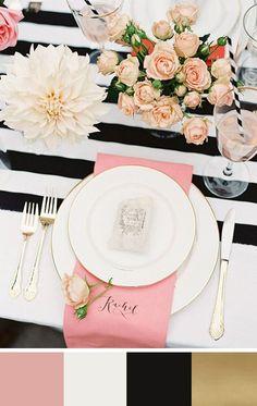 A Rose by Any Other Name: 5 Mellow Rose Color Palettes for your Wedding Day || Bella Collina Weddings