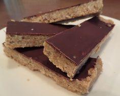 "Dark Chocolate Peanut Butter ""Granola"" Bars"