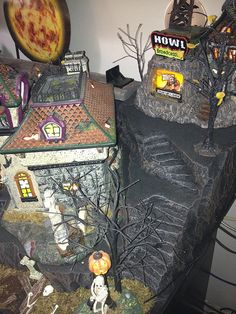 Halloween staircase by 56th and Main, via Flickr