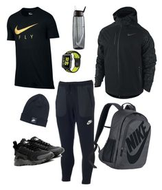 """Men's Nike winter chill look"" by fashionista-momma on Polyvore featuring NIKE, men's fashion and menswear"