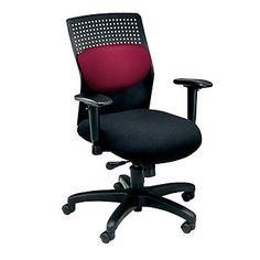 Plastic Back Ergonomic Task Chair, OFM-650, Adjustable, Durable, Comfortable, Red.