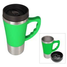 Natico Reaction Travel Mug, 16 oz, Green
